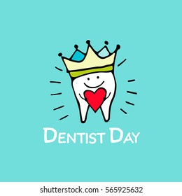 Happy Dentist Day Tooth Sketch For Your Design