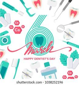 Happy dentist's day background