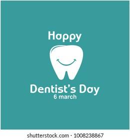 Happy Dentist's Day Logo Vector Template Design
