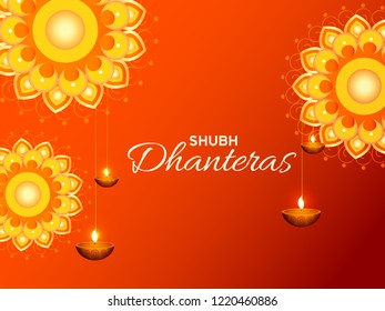 Happy Dhanteras Illustration Background.