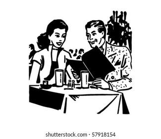 Happy Diners - Retro Clip Art