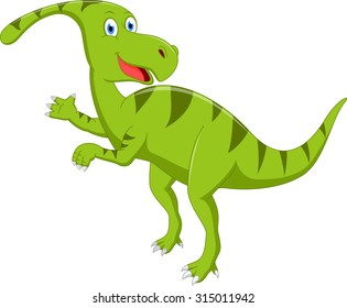 Happy dinosaur cartoon