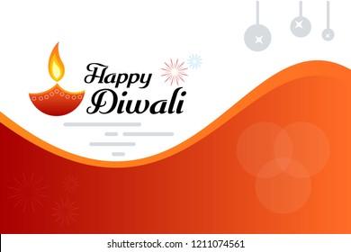 Happy diwali banner design template. vector illustration wallpaper. Hindu festival greeting card.