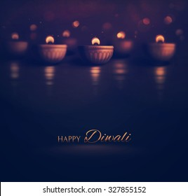 Happy Diwali, burning diya, eps 10