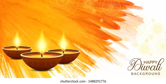 Happy diwali decorative celebration background