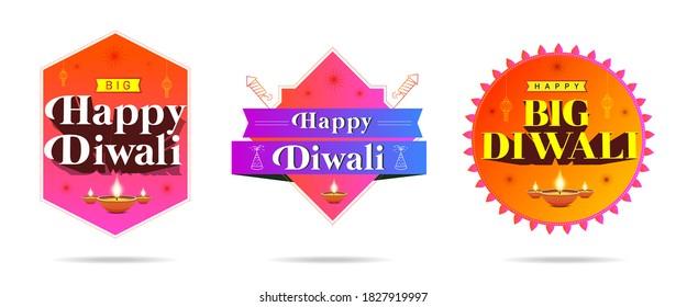 Happy Diwali festival, Creative banner or sale logo, india festival, logo unit, logo banner,