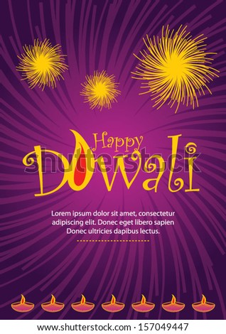 Happy diwali greeting card stock vector royalty free 157049447 happy diwali greeting card m4hsunfo