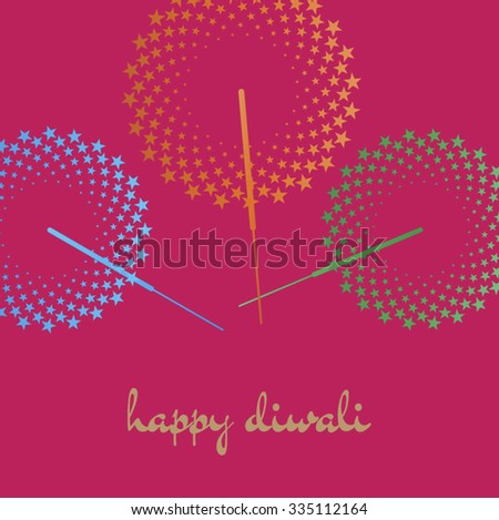 Happy diwali diwali greeting card template stock vector royalty happy diwali diwali greeting card template with sparklers graphic and message in english m4hsunfo