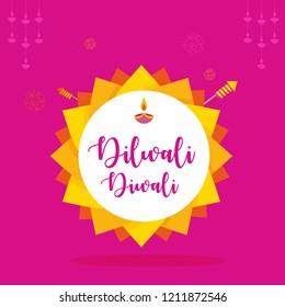 Happy diwali greetings colour full vector designs