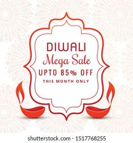 happy diwali hindu festival card background illustration