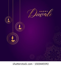 Happy Diwali, Holiday Background for Light Festival of India