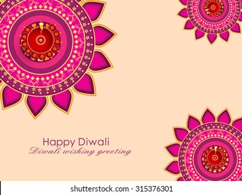 Happy Diwali Illustration, Flyer Design for Diwali festival