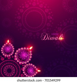 Happy Diwali Illustration, Flyer Design for Diwali festival, Diwali with rangoli vector