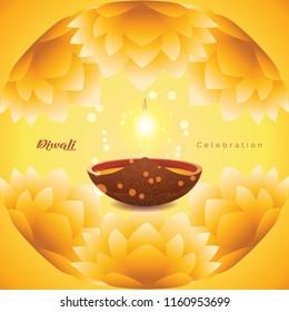 Happy Diwali Inner Flower Design