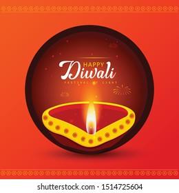 Happy diwali light festival festival of india