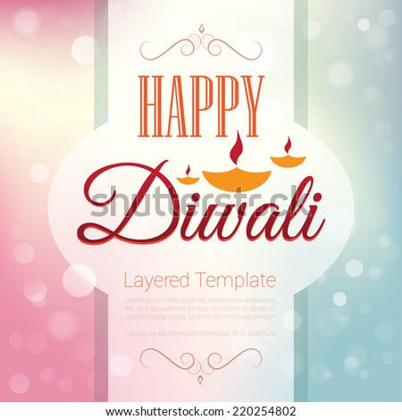 Happy Diwali Poster Template Background Design Stock Vector Royalty