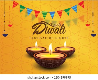 Happy diwali wishes greeting cards design vector images ecards wallpapers