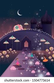 happy diwali/deepavali greetings template vector/illustration