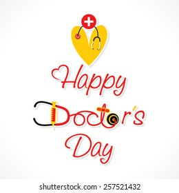 happy doctor's day greeting design vector