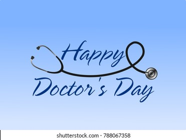 Happy Doctor's Day greeting illustration vector