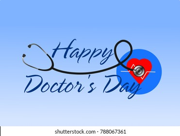 Doctors day images stock photos vectors shutterstock happy doctors day greeting illustration vector m4hsunfo