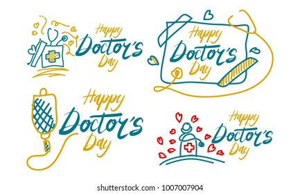 Happy Doctor's Day Template Set