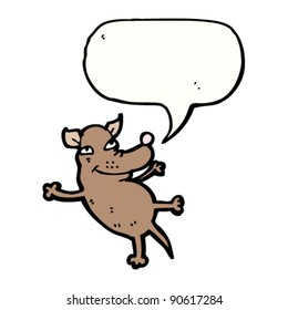 happy dog with speech bubble