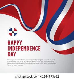 Happy Dominican Republic Independence Day Vector Template Design Illustration