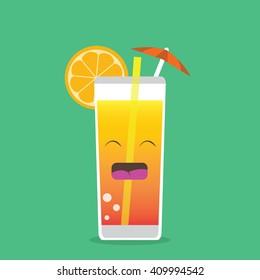 Happy Drink Vector Illustration