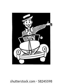 Happy Driver 2 - Retro Clip Art