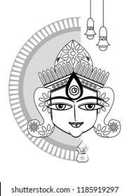 Happy Durga Puja Background Goddess Durga