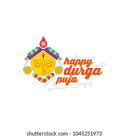 happy durga pujo. durga an indian goddess. Indian Festival. bengoli festival. Eastern india festival. can be use for Navratri event.