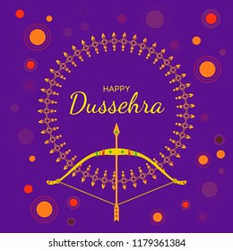 Dussehra images stock photos vectors shutterstock happy dussehra greeting card indian festival colorful background with creative lettering bow and m4hsunfo