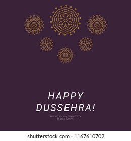 Happy dussehra hindu traditional festival background design for poster, wallpaper and others