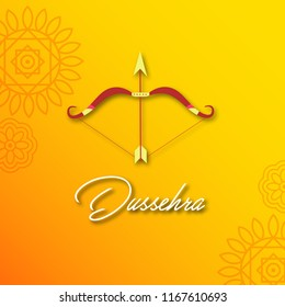Happy dussehra indian festival background, poster and wallpaper design.