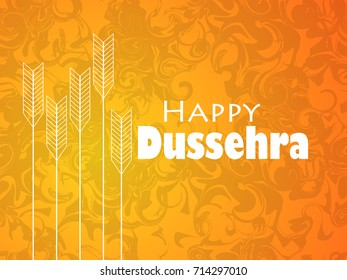 Happy Dussehra. Indian festival celebration. Marble background with arrows. Vector illustration