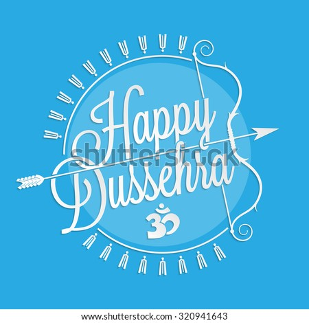 Happy dussehra lettering your greeting card stock vector royalty happy dussehra lettering for your greeting card design m4hsunfo
