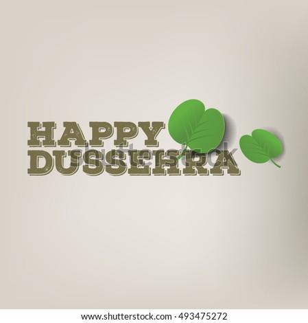 Happy dussehra message english graphic apta stock vector royalty happy dussehra message in english with graphic of apta leaves dusshera vector greetings m4hsunfo