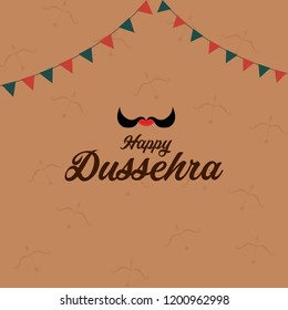 Happy dussehra template, poster,wallpaper and card design illustration.