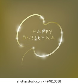 'Happy Dussehra' vector gretting card cover design.