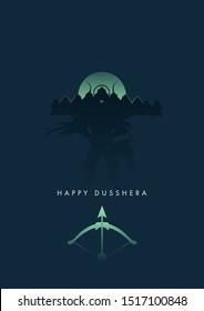 Happy Dusshera minimal poster - vector