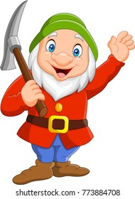 Happy dwarf miner