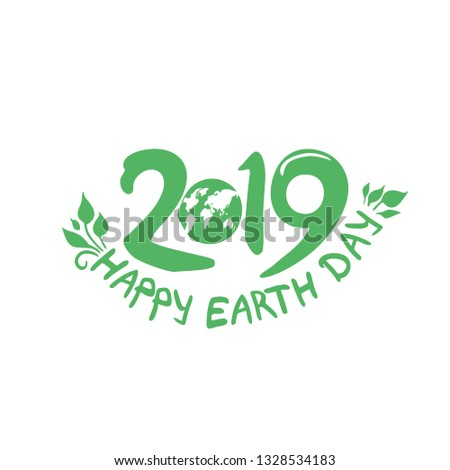 Happy Earth Day 22 April 2019 Stock Vector Royalty Free 1328534183
