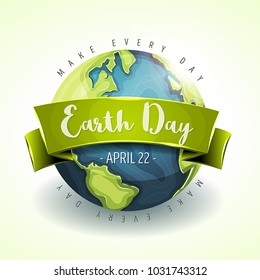 Happy Earth Day Banner/ Illustration of a happy earth day banner, for environment safety celebration