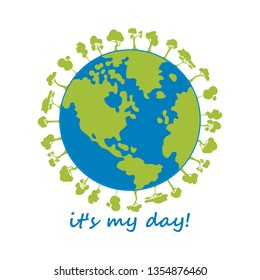 Happy Earth Day Banner. Illustration of happy earth day banner, for celebrating environmental safety