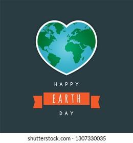 Happy earth day design. Vector illustration eps 10