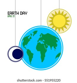 Happy earth day graphic design, Vector illustration
