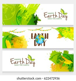 Happy Earth Day Header or Banner Background.