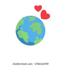 Happy earth day with heart