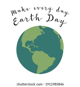 Happy Earth Day, Earth Hour, environment safety celebration. Vector flat cartoon illustration. Perfect for card, poster, flyer, banner design